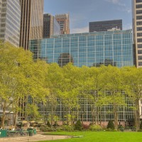Bryant Park lawn, from the south side