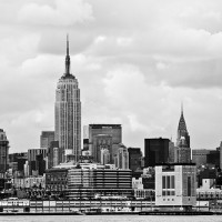 Midtown in black and white