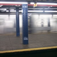 NYC subway blurry